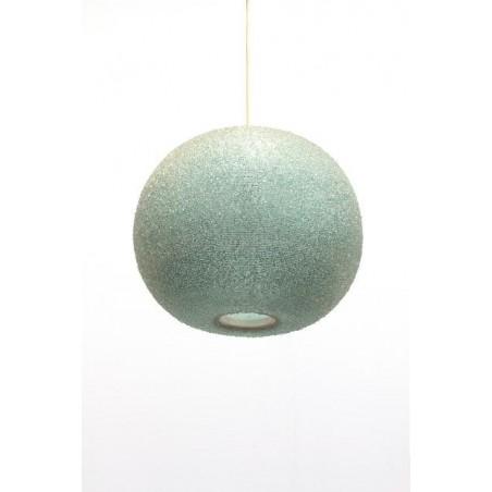 Suikerbol hanglamp blauw