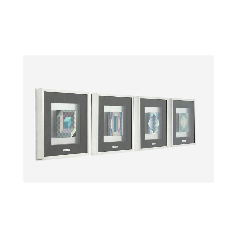 Victor Vasarely set van 4 prints