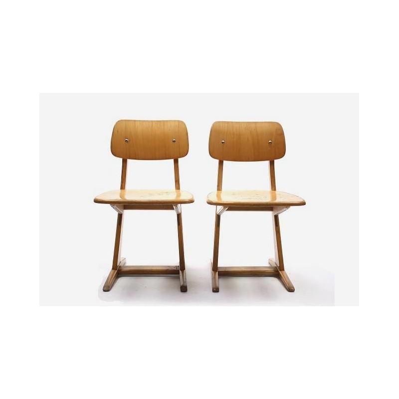 Set of 2 wooden childeren's chairs