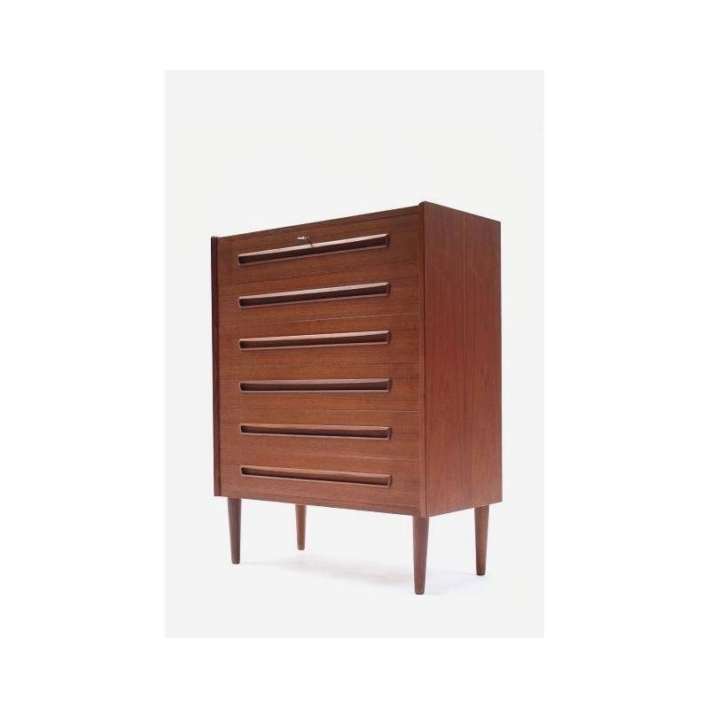 Scandinavian chest of drawers in teak