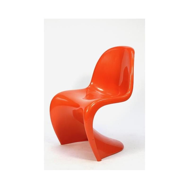 Verner Panton plastic chair oranje
