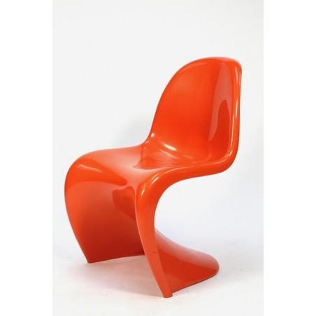 Verner Panton plastic chair orange