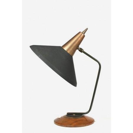 Zwart/ koperen bureaulamp