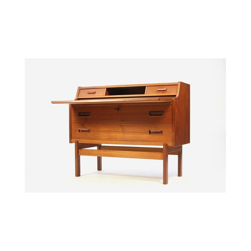 Secretaire in teakhout laag model