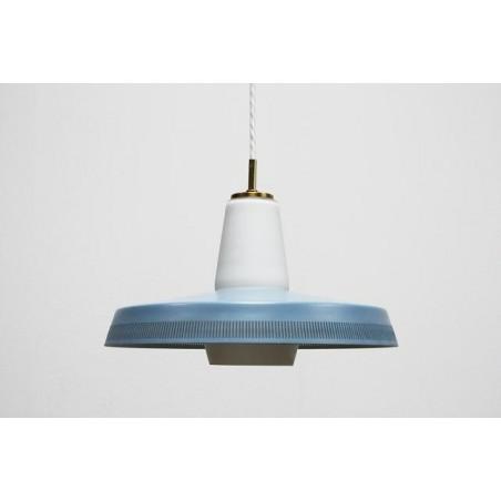 Blauw/ glazen hanglamp