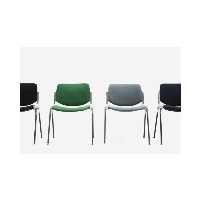 Set of 4 Castelli chairs in different colours