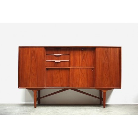 Sideboard in teak with colored drawers