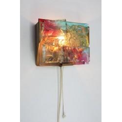 Glass wall lamp Raak-style
