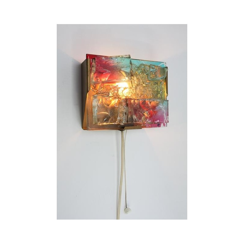 Glazen wandlamp in de stijl van Raak