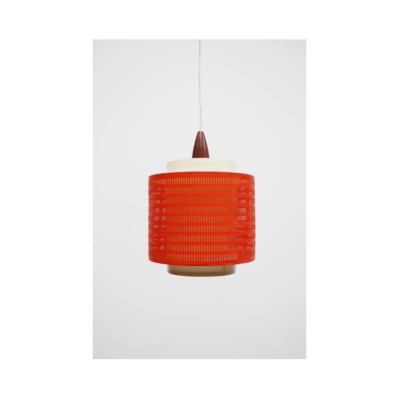 Oranje hanglamp uit de jaren 60