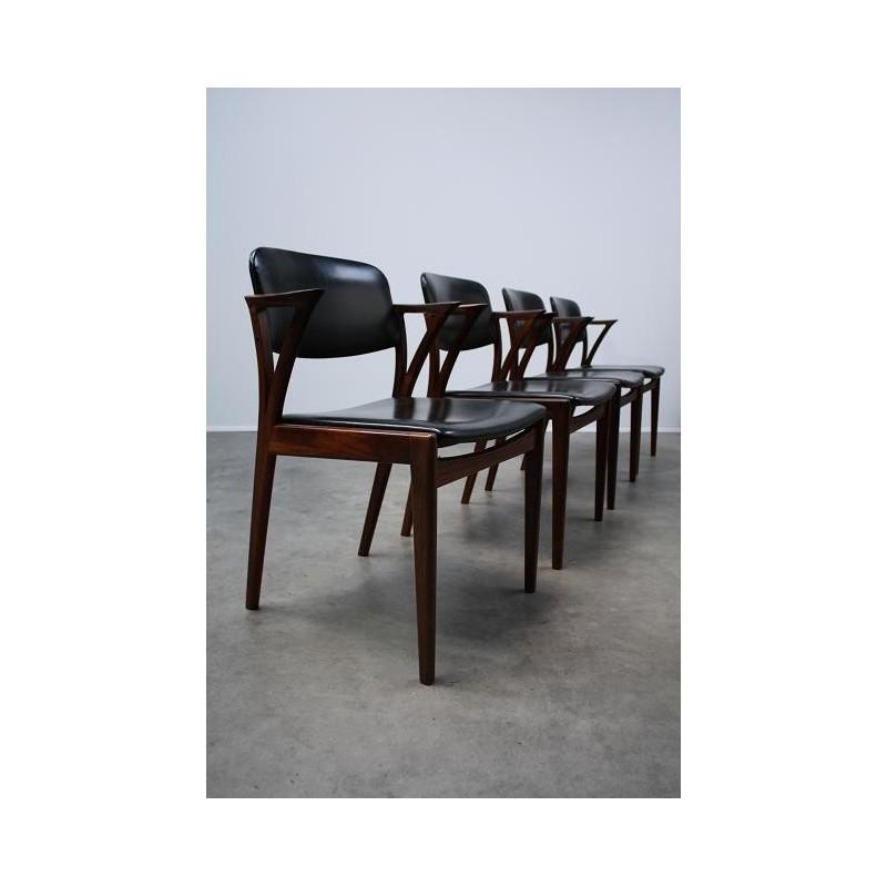 Bovenkamp teak stoelen set van 4
