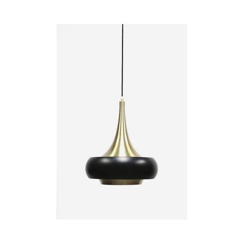 Hanging lamp black/ brass