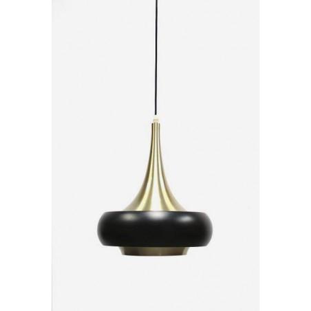 Hanglamp zwart/ messing