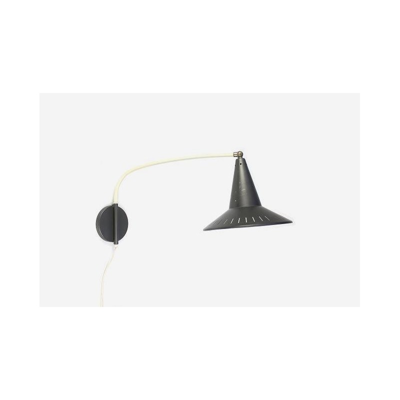 Wall lamp with grey shade