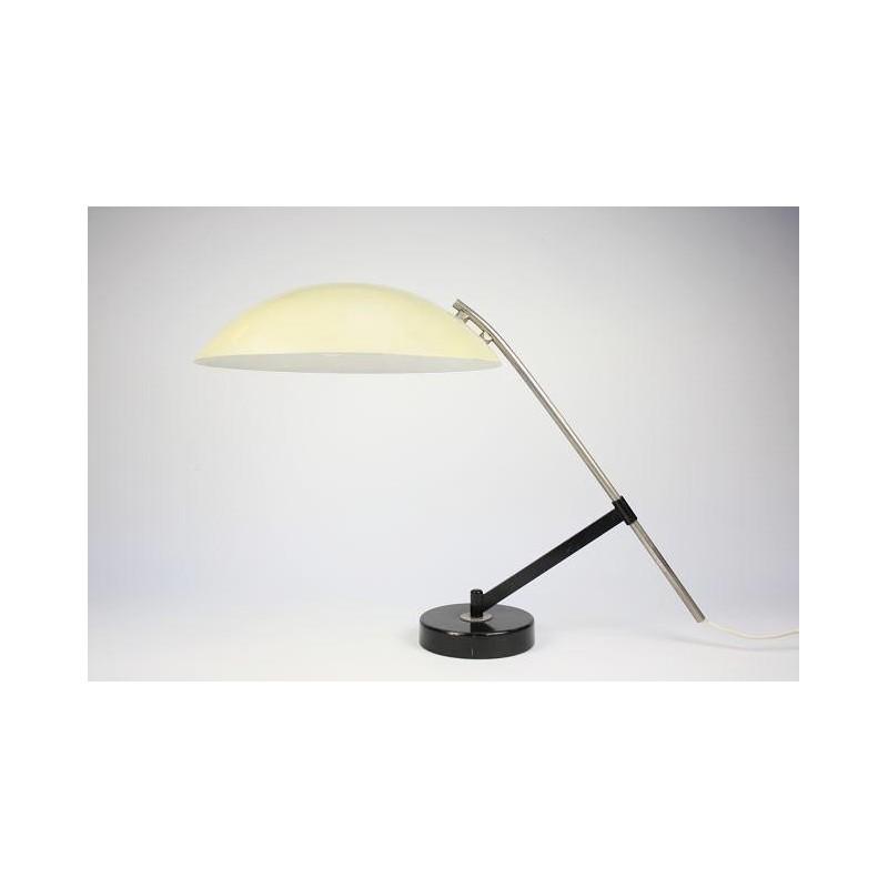 Philips tafellamp van Louis Kalff gele kap