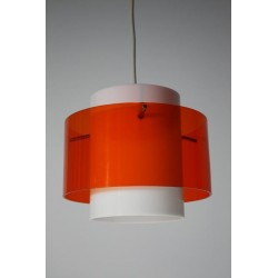 Plexiglass lamp white/orange
