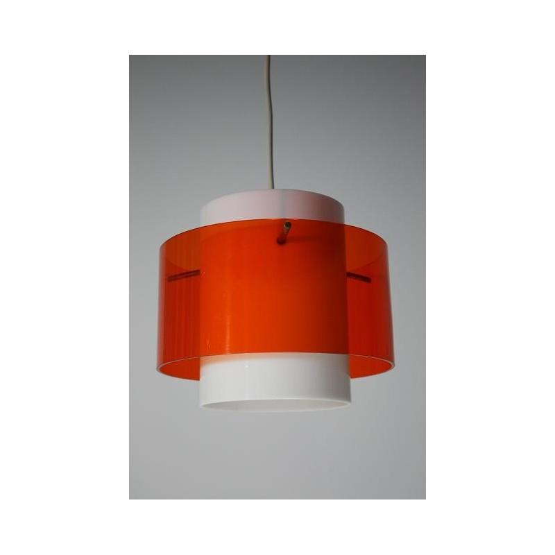 Plexiglazen lamp wit/oranje