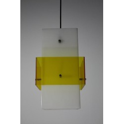 Plexiglass lamp white/yellow