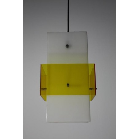Plexiglazen lamp wit/geel