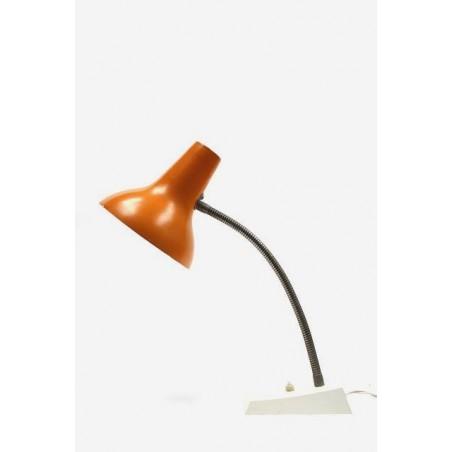 Bureaulamp met oranje kap