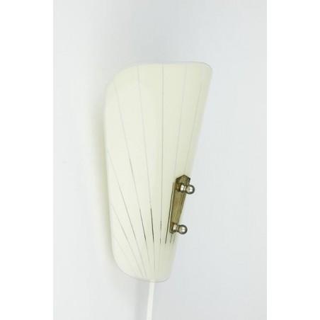 Glazen wandlamp uit de jaren 50/60