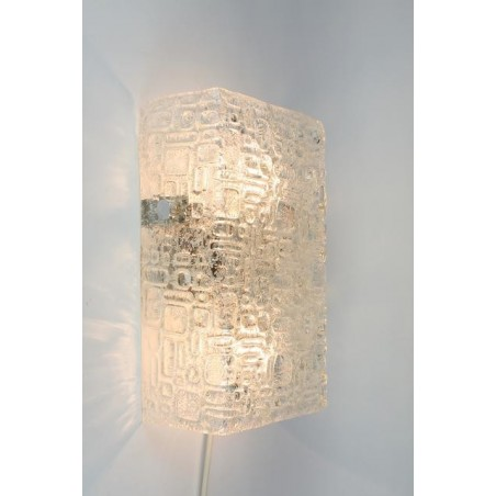 Glass block wall lamp