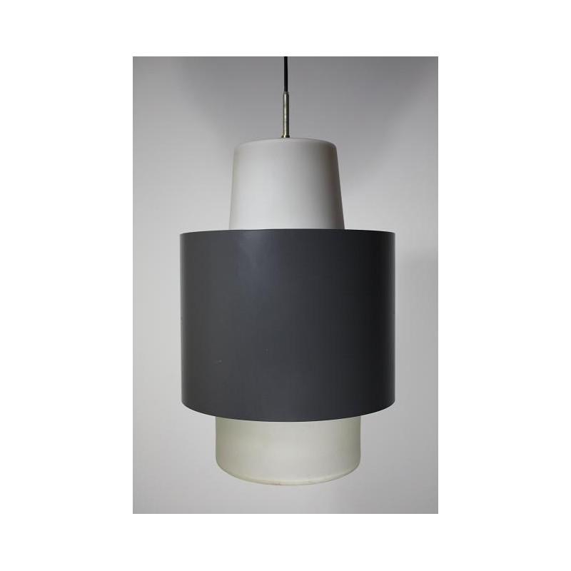 Industriele 1950's lamp groot
