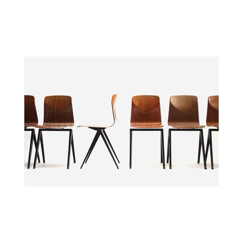 Set van 6 industriele Thur op seat stoelen