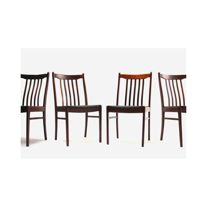 Set van 4 palissander houten stoelen