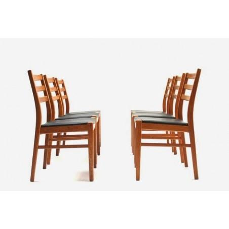 Set van 6 Zweedse eettafel stoelen