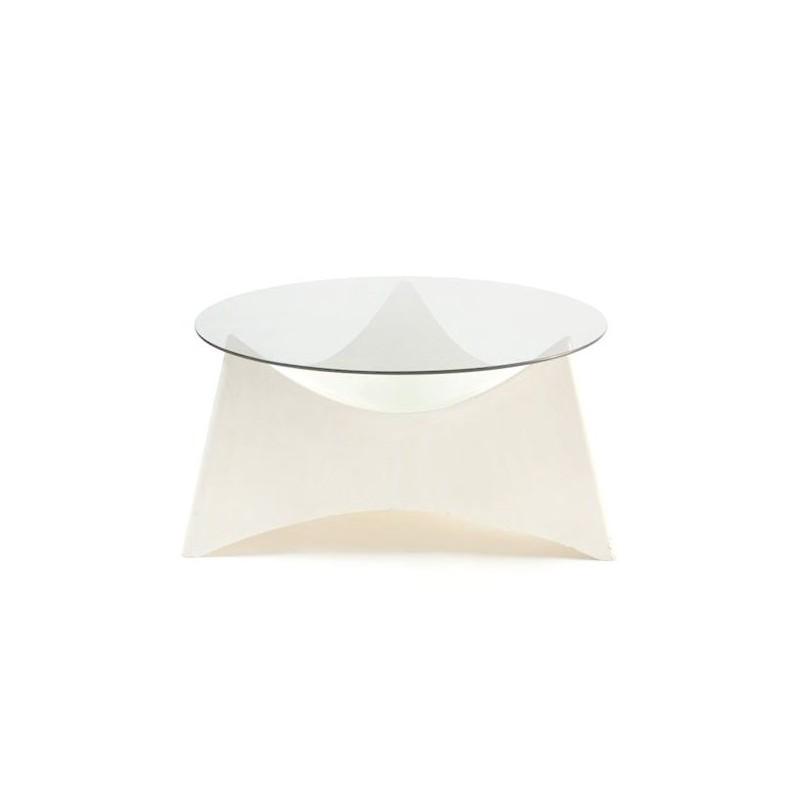 Salontafel plastic met glazen blad