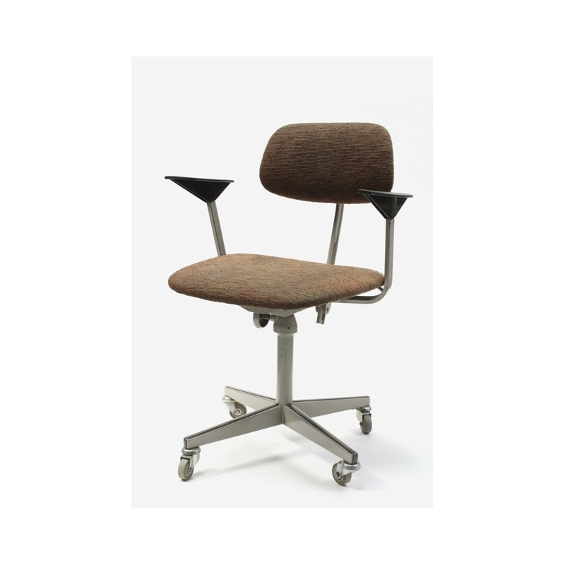 Friso Kramer drawing table chair brown upholstery
