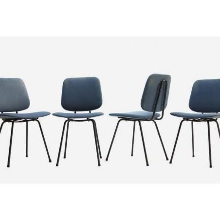 Set van 4 stoelen jaren 60