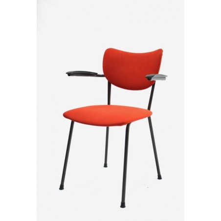De Wit bureau/ eettafel stoel oranje
