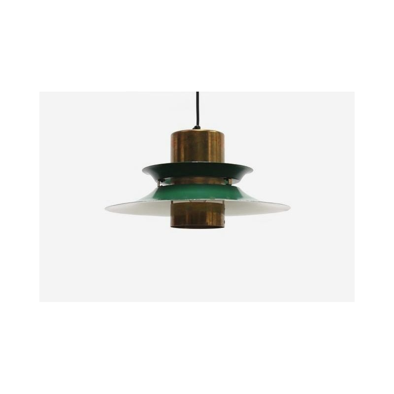 Discs hanging lamp brass/ green