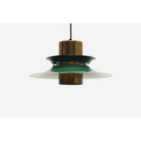 Discs hanging lamp brass/ green
