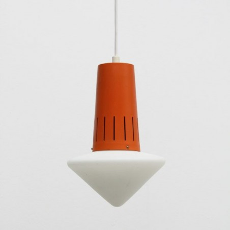 Hanging lamp orange/ white
