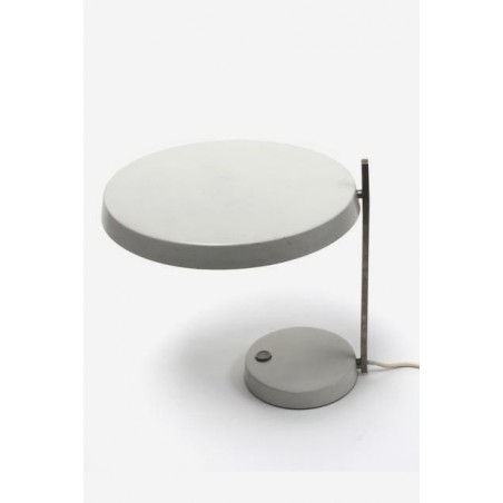 Desk-/ tablelamp with grey shade