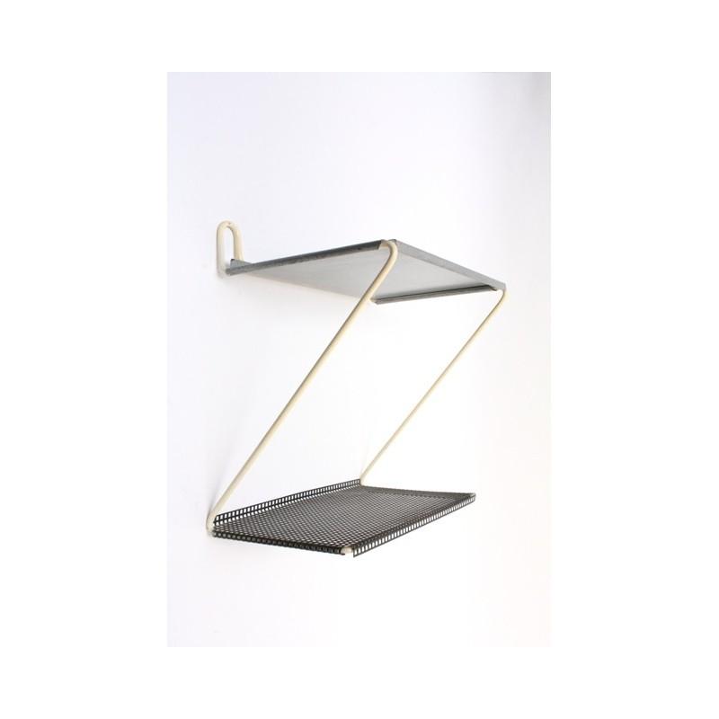 Metal wall/telephone rack