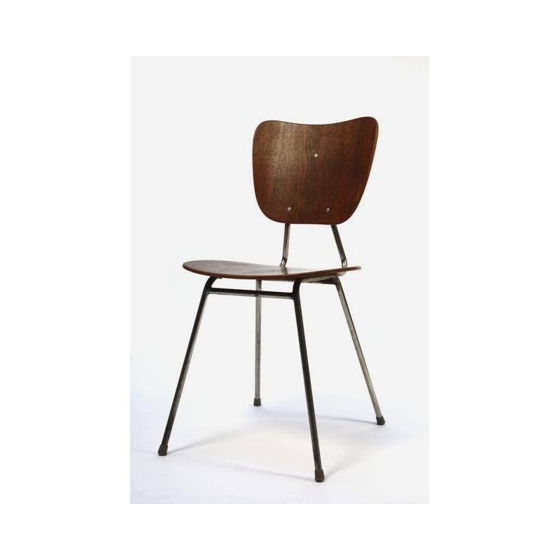 Wooden pylwood chair from 1957
