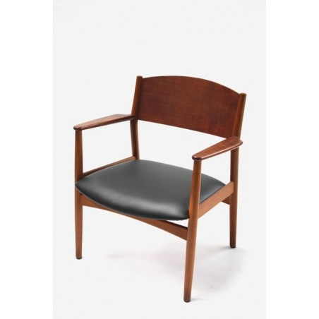 Danish low chair in teak