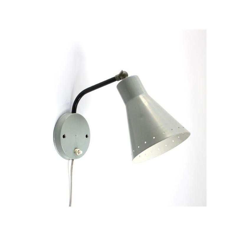 Wall lamp with grey shade 1950's