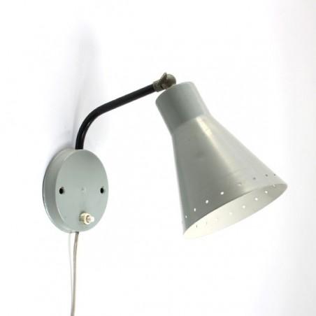 Wandlamp met grijze kap jaren 50