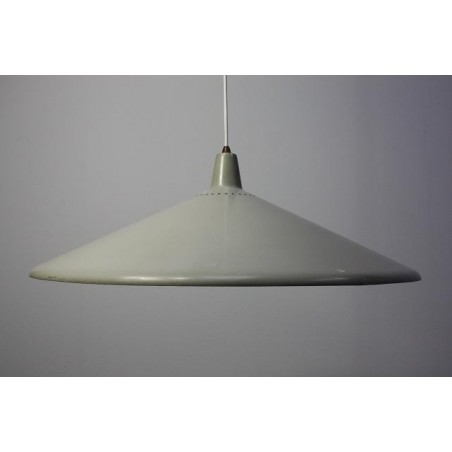 Grey metal 1950's hanging lamp