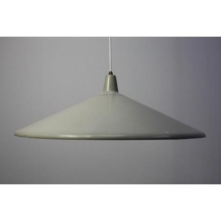 Grijs metalen 1950's hanglamp