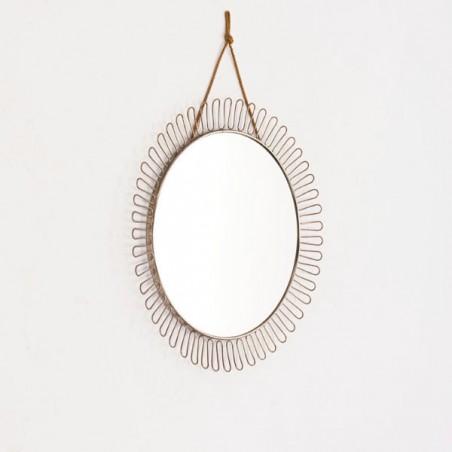 Ronde spiegel jaren 50/60 aan ketting