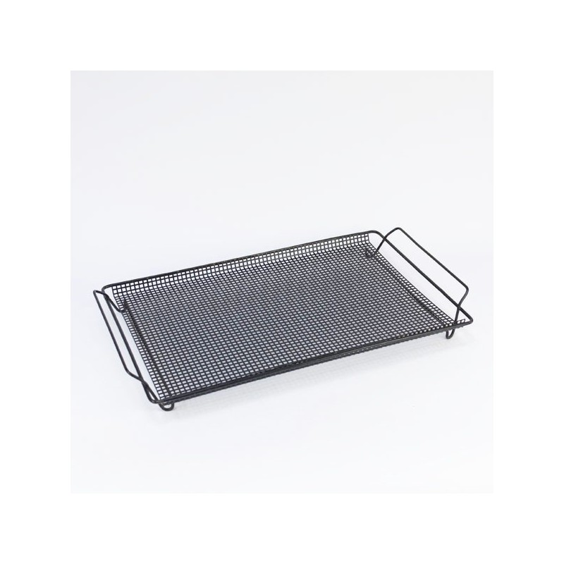 Tray of perforated metal