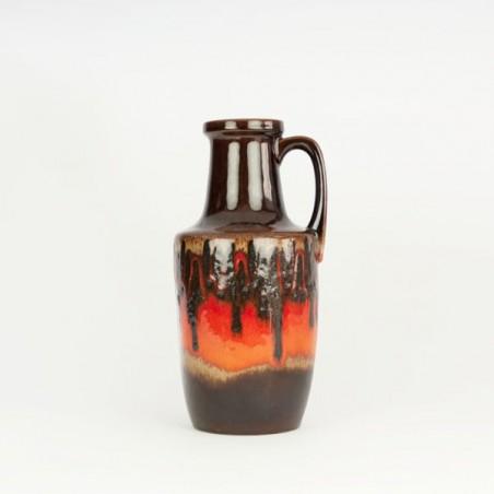 West-Germany vase brown/ orange