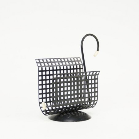 Mail holder black perforated Swan shaped