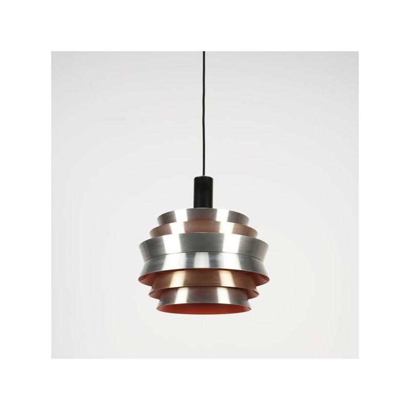 Scandinavische schijven hanglamp oranje binnenkant